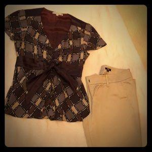 💃Nanette Lepore Silk Top Size 4 100% silk